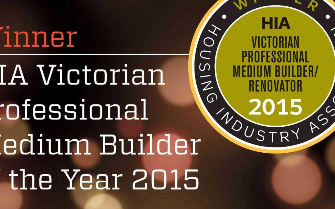 Winner HIA Victorian Professional Medium Builder